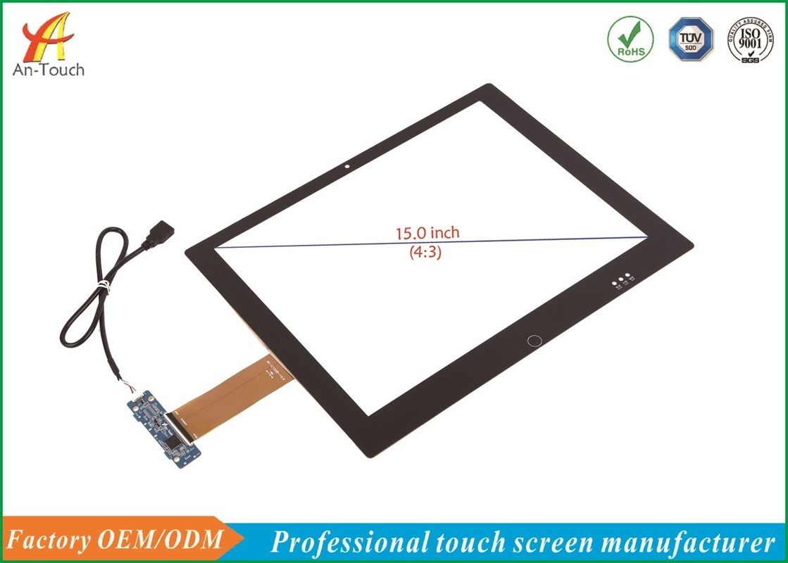 Open Frame PCAP Touch Screen Panel 15.0 Inch For All In One Touch Monitor