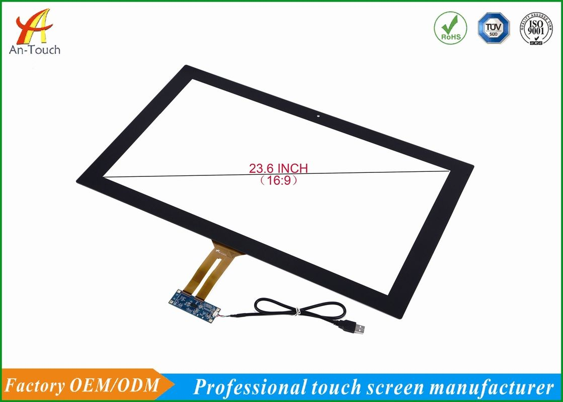 Waterproof Usb Capacitive Touch Panel 23.6 Inch For Industry Monitor