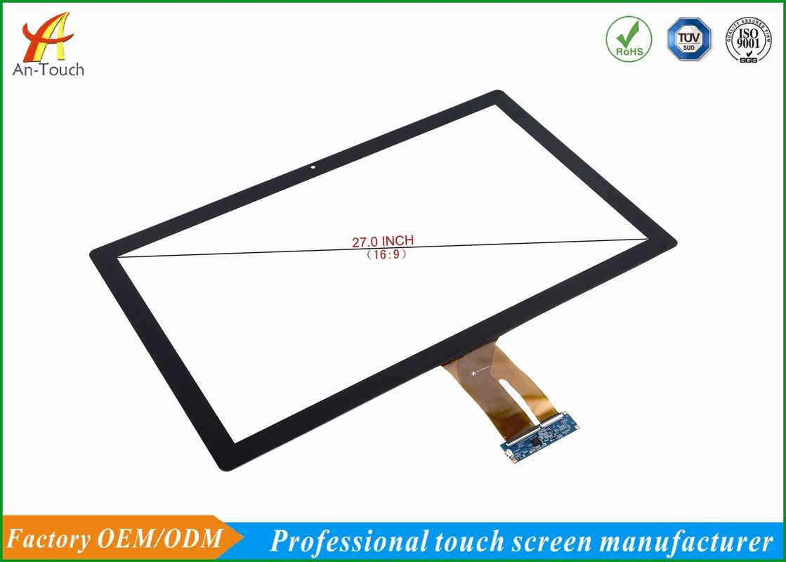 Open Frame Industrial Touch Panel , Digitizer Touch Screen 27 Inch High Brightness