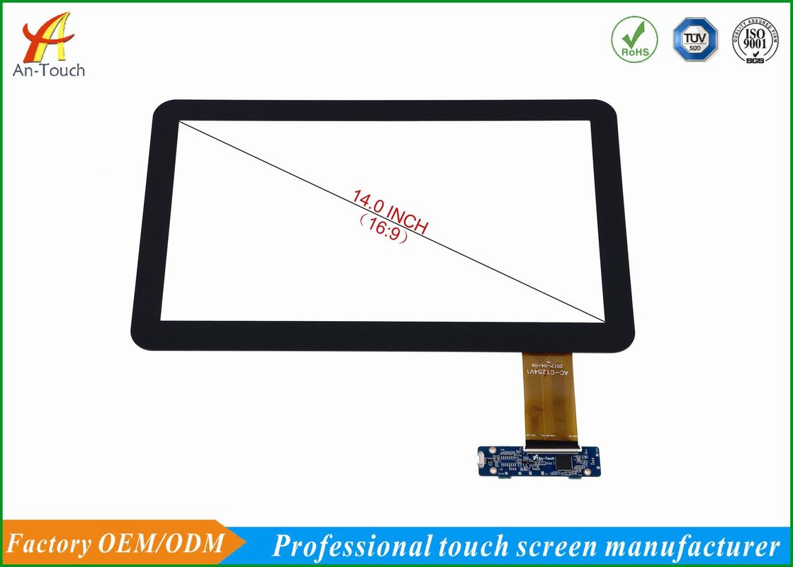 HD 14 Inch KTV Touch Screen Overlay Anti - Interference Ability , 4096*4096 Resolution