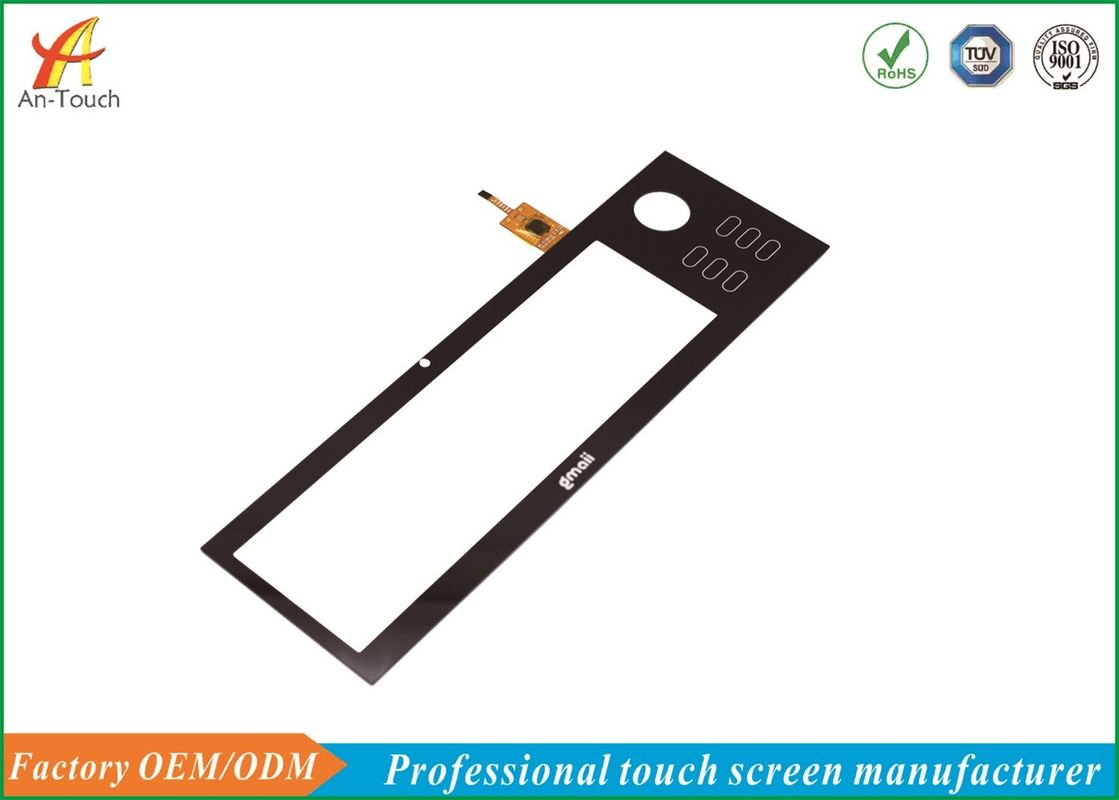 Customized 5 Point Touch Screen 8 Inch Panel High Hardness 12 Months Warranty